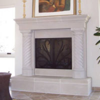 Sheridan | Cast Stone Fireplace